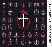 vintage christian crosses... | Shutterstock .eps vector #1772692778