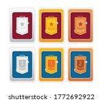 rank badge icon set. 1st  2nd... | Shutterstock .eps vector #1772692922