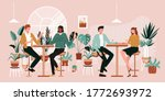 urban jungle banner  card print....   Shutterstock .eps vector #1772693972