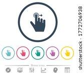 right handed slide right... | Shutterstock .eps vector #1772706938