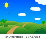 meadow in summer day | Shutterstock .eps vector #17727085