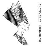 egyptian queen nefertiti...   Shutterstock .eps vector #1772731742