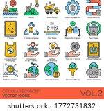 circular economy icons... | Shutterstock .eps vector #1772731832