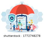 vector of senior and young... | Shutterstock .eps vector #1772748278