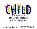 playful style font design ... | Shutterstock .eps vector #1772753945