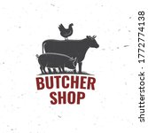 butcher shop badge or label... | Shutterstock .eps vector #1772774138