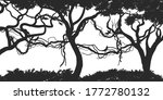 jungle plants background.... | Shutterstock .eps vector #1772780132