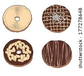 donuts set | Shutterstock .eps vector #177278648