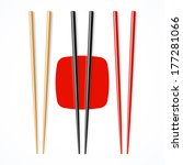 Red  Black  Wooden Chopsticks....