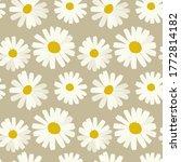 chamomile seamless pattern on... | Shutterstock . vector #1772814182