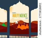 happy independence day india ... | Shutterstock .eps vector #1772818892