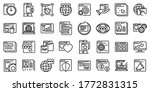 browser icons set. outline set...