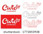 august civic holiday canada... | Shutterstock .eps vector #1772853938