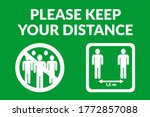 please keep your distance... | Shutterstock .eps vector #1772857088