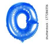 blue balloon font part of full... | Shutterstock . vector #177286556