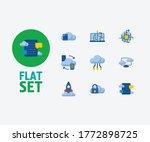 cloud service icons set....