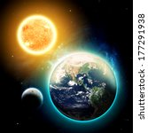 Sun Moon Earth Elements - Fine Art prints