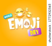 world emoji day greeting card... | Shutterstock .eps vector #1772932565