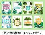 abstract summer poster. enjoy...   Shutterstock . vector #1772954942