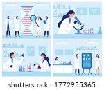 scientists work in laboratory.... | Shutterstock . vector #1772955365