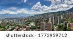 Aerial panorama of Medellin, Colombia