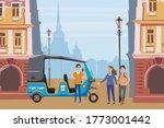 tuk tuk asian auto rickshaw... | Shutterstock .eps vector #1773001442