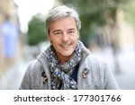 portrait of attractive mature... | Shutterstock . vector #177301766