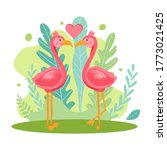 Windy Illustration Of Two Pink...