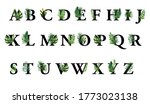 black alphabet letters with...   Shutterstock . vector #1773023138