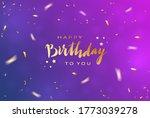 lettering happy birthday on... | Shutterstock . vector #1773039278