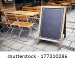 Old Wooden Black Board With...