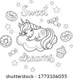 sweet dreams text. little...   Shutterstock .eps vector #1773106055