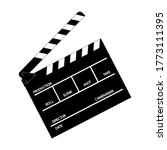 movie clapperboard vector. for... | Shutterstock .eps vector #1773111395