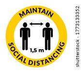maintain social distancing 1 5m ... | Shutterstock .eps vector #1773133352