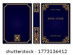 standard book cover and spine... | Shutterstock .eps vector #1773136412