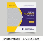 digital marketing social media... | Shutterstock .eps vector #1773158525
