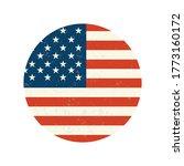 usa flag label. illustration... | Shutterstock . vector #1773160172