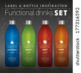 functional drinks set  colorful ... | Shutterstock .eps vector #177316592