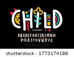 playful style font design ... | Shutterstock .eps vector #1773174188
