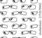 simple monochrome seamless... | Shutterstock .eps vector #1773179045