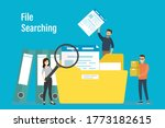 office workers searching file.... | Shutterstock .eps vector #1773182615