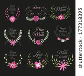 happy mothers day card design.... | Shutterstock .eps vector #177318395