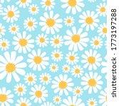 seamless of hand drawn daisy...   Shutterstock .eps vector #1773197288