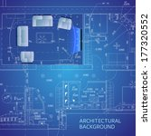 blueprint with furniture.... | Shutterstock .eps vector #177320552