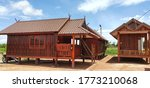 Thai Style Wooden House With...