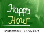 happy hour concept | Shutterstock . vector #177321575