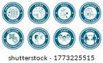 coronavirus covid 19 free zone  ... | Shutterstock .eps vector #1773225515