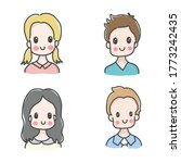 hand drawing cute boys and girls | Shutterstock .eps vector #1773242435