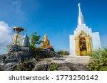 Buddhist Stupa On The Top Of...
