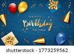 gold lettering happy birthday... | Shutterstock . vector #1773259562